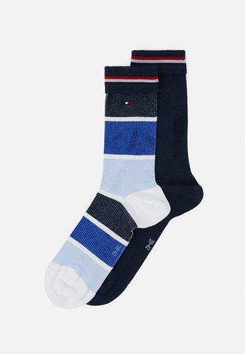 SOCK COLOR BLOCK 2 PACK - Socks - navy