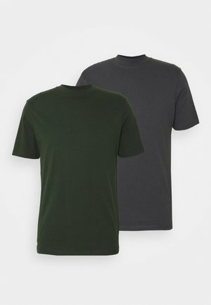 TURTLE 2 PACK - Basic T-shirt - grey/green