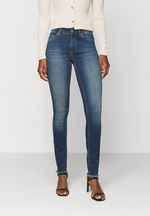 ONLBLUSH LIFE MID - Jeansy Skinny Fit - dark blue denim