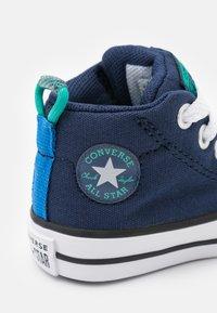 Converse - CHUCK TAYLOR ALL STAR STREET SEASONAL UNISEX - High-top trainers - midnight navy/court green/digital blue - 5