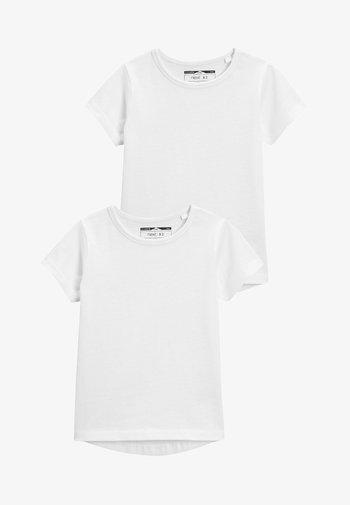 2 PACK SHORT SLEEVE - Basic T-shirt - white