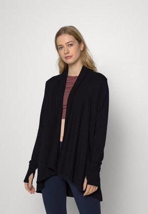 PRANAYAMA WRAP - Sweater met rits - black