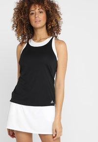 adidas Performance - CLUB TANK - Sports shirt - black - 0