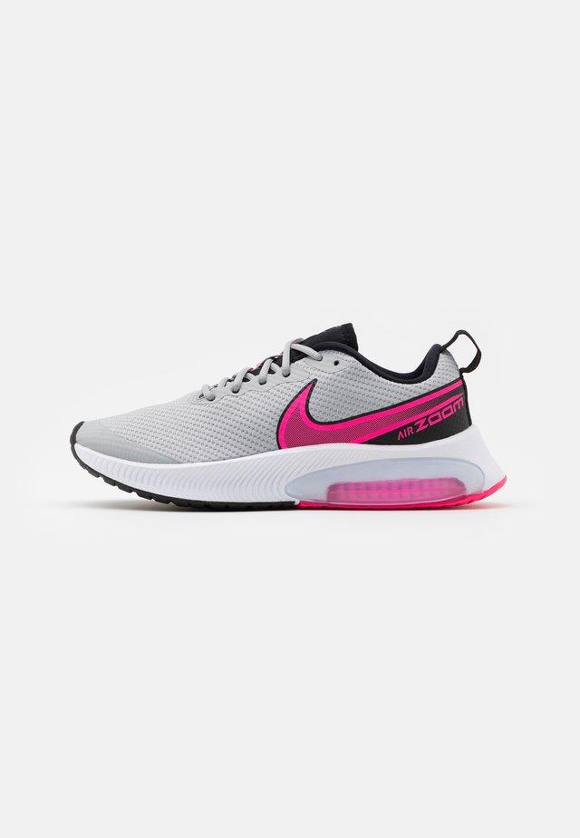 AIR ZOOM ARCADIA GS UNISEX - Neutral running shoes - light smoke grey/hyper pink/black/white