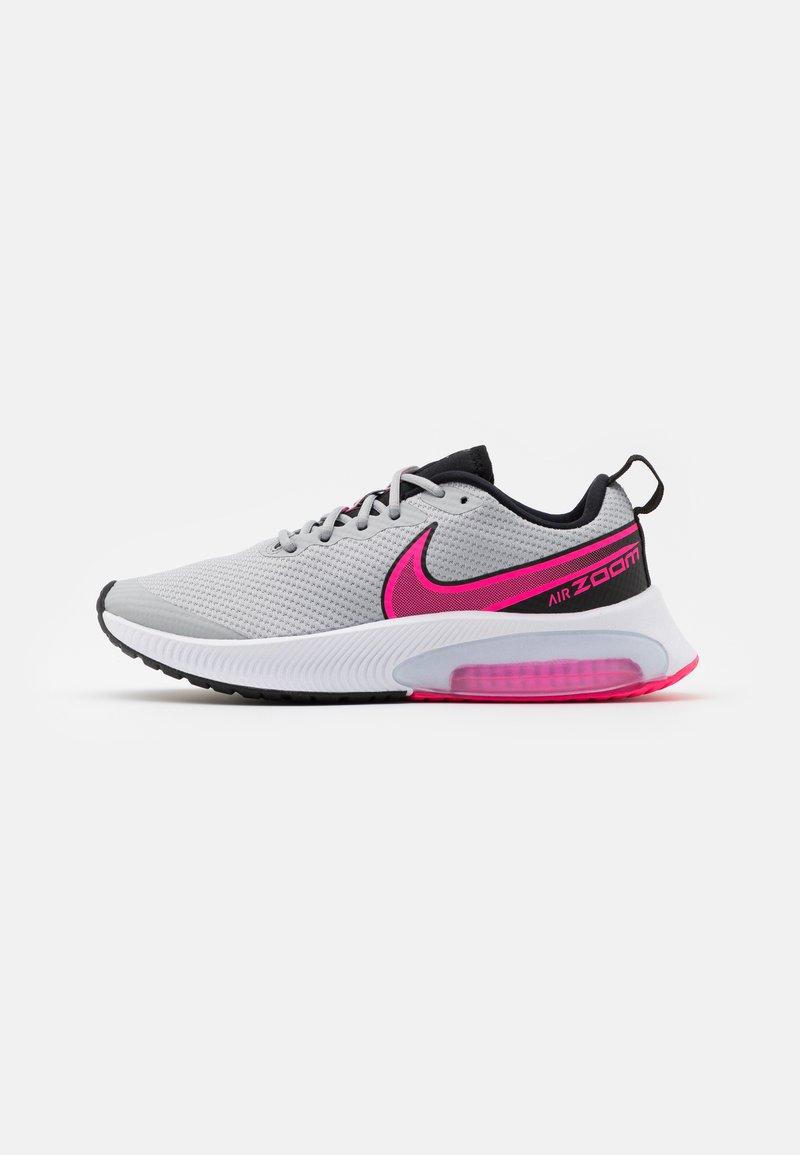 Nike Performance - AIR ZOOM ARCADIA GS UNISEX - Neutral running shoes - light smoke grey/hyper pink/black/white