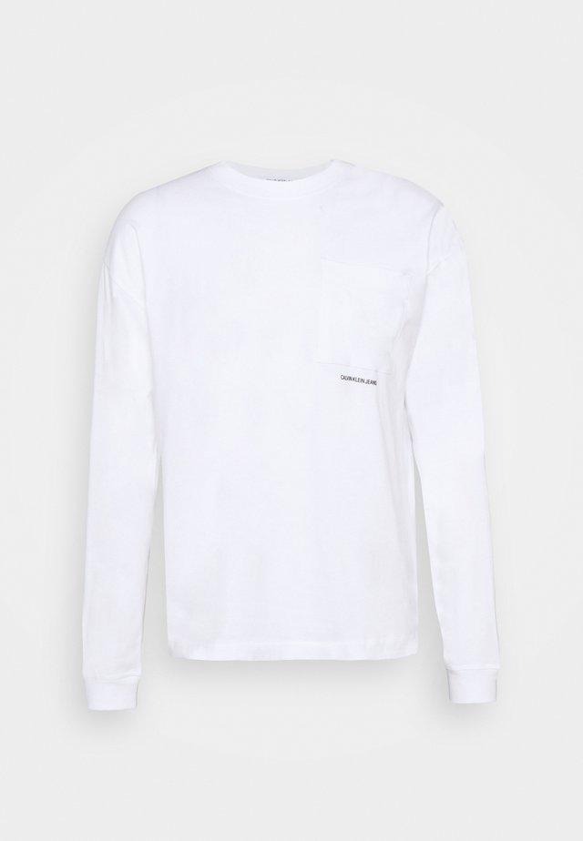 MICRO ESSENTIAL POCKET UNISEX - Top sdlouhým rukávem - bright white
