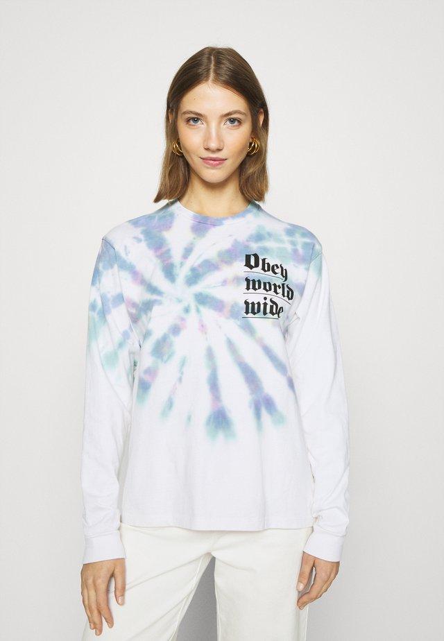 WORLDWIDE - Pitkähihainen paita - white/multi