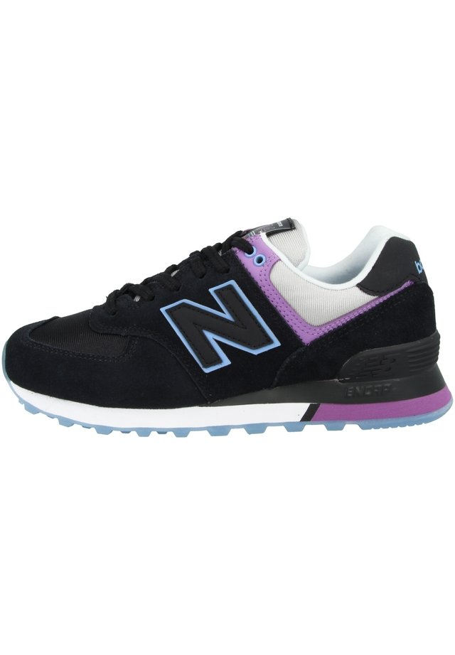 Sneakersy niskie - black-team carolina-neo violet (wl574sau)