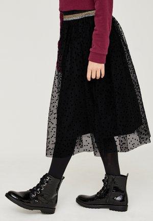 A-line skirt - black dots