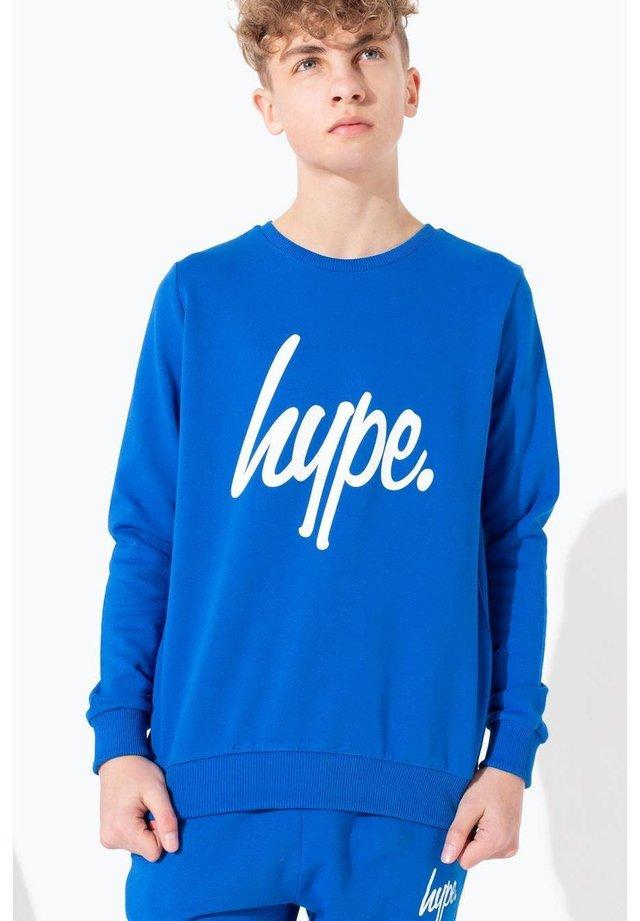 HYPE SCRIPT - Sweatshirt - blue