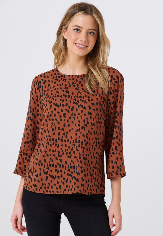 SUGARHILL BRIGHTON TOP EMMIE ANIMAL SPOT - Blouse - brown