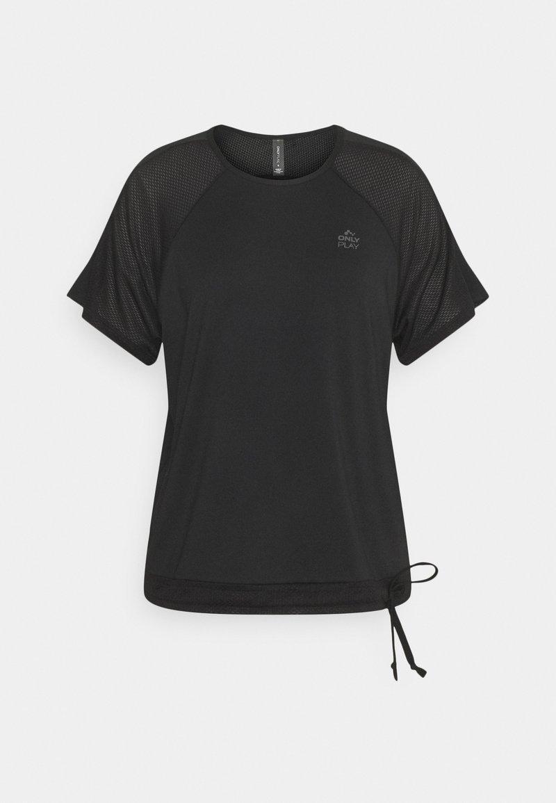 ONLY Play - ONPNELL TRAINING TEE - Print T-shirt - black