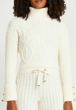 CREAM CABLE KNIT CROPPED - Jumper - cream