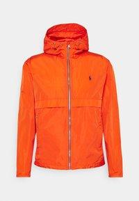 WATER-REPELLENT HOODED JACKET - Summer jacket - spectrum orange