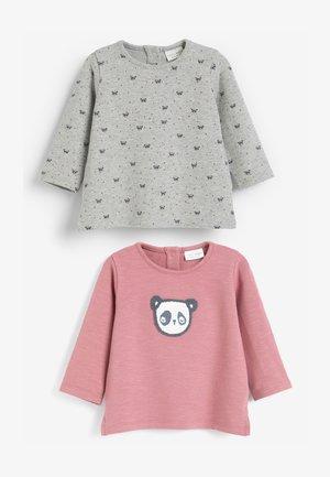 2 PACK PANDA HEAVY - Long sleeved top - pink