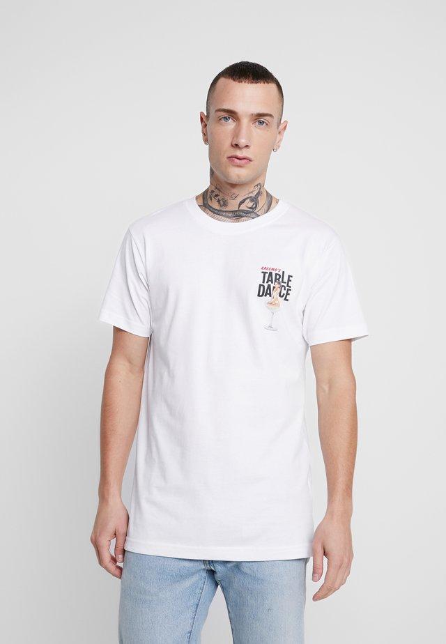 TABLEDANCE TEE - T-shirt z nadrukiem - white