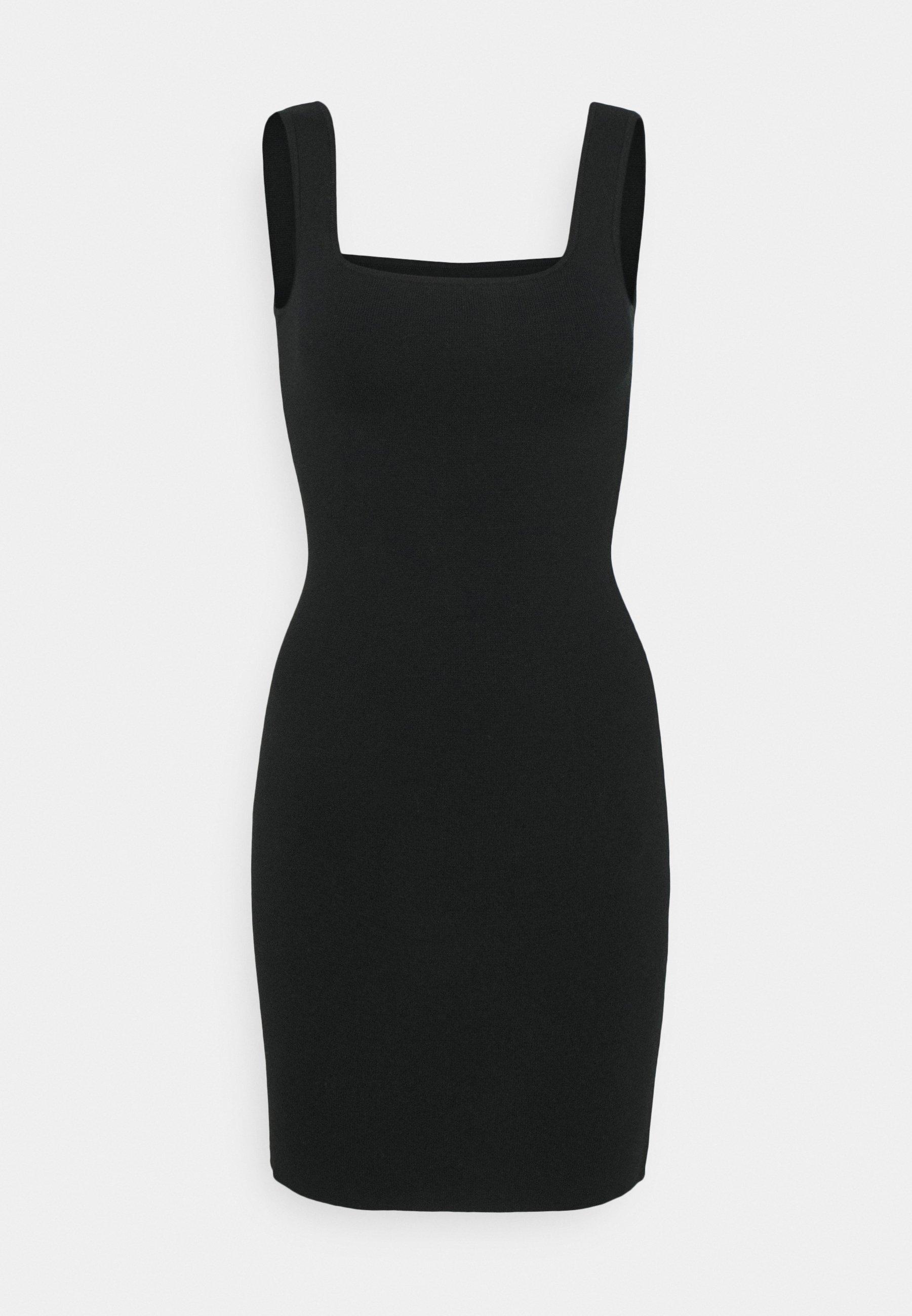 Women RIBBED NECK MIDI - Jumper dress