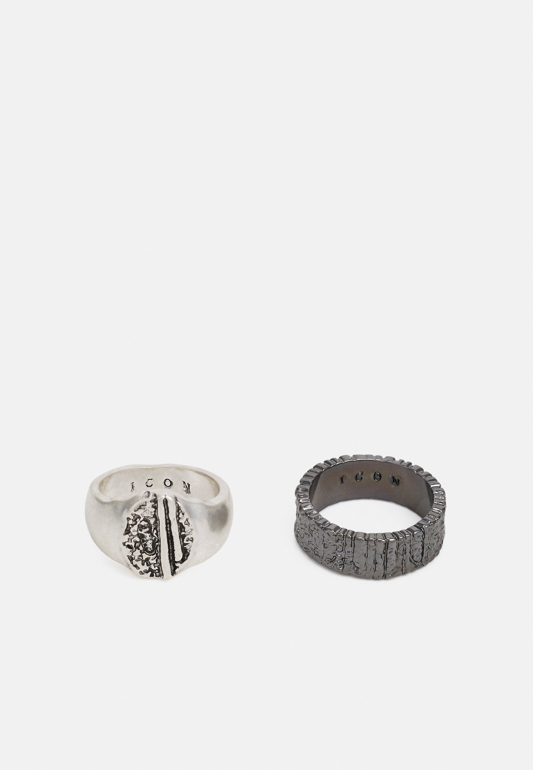 Homme COLLECTIVE CONSCIENCE TEXTURED 2 PACK - Bague