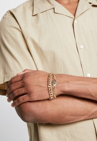 Topman - CROSS AND BAR 2PACK - Pulsera - gold-coloured - 1