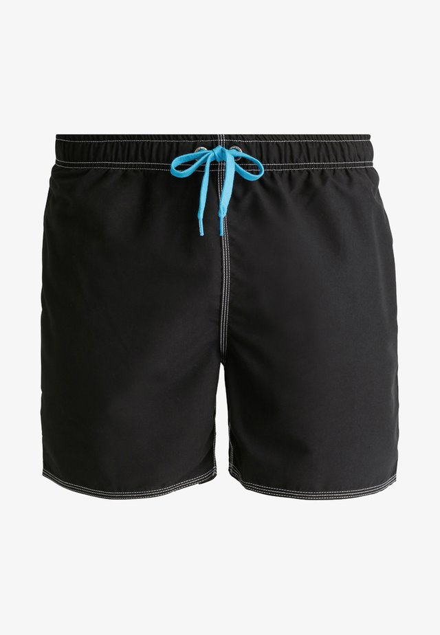 FUNDAMENTALS SOLID - Swimming shorts - black/white