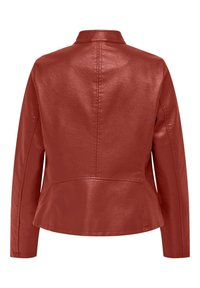ONLY - ONLMELISA FAUX JACKET - Faux leather jacket - red ochre - 1