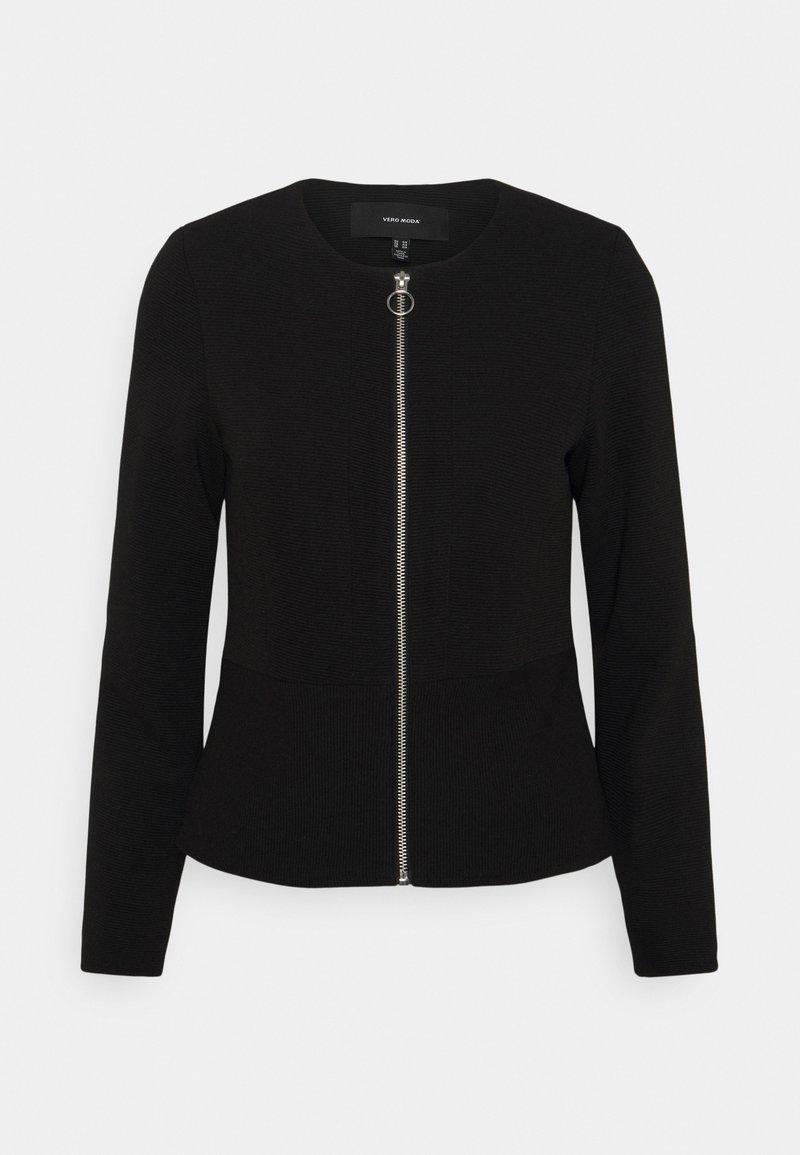 Vero Moda Petite - VMEVERSIENNA SHORT JACKET  - Blazer - black