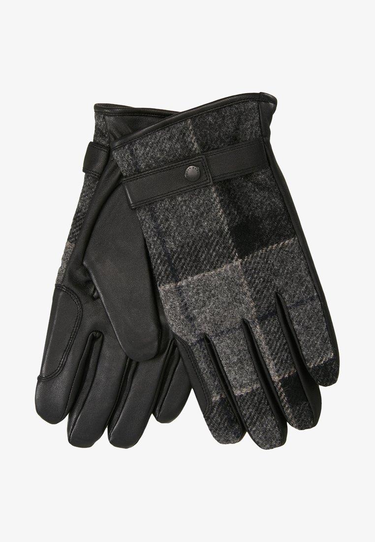 Barbour - NEWBROUGH TARTAN GLOVE - Gloves - black