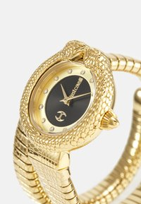 Just Cavalli - GOLD & BLACK SINGLE WRAP WATCH - Hodinky - black sunray (inner)/ champagne sunray (outer) - 4