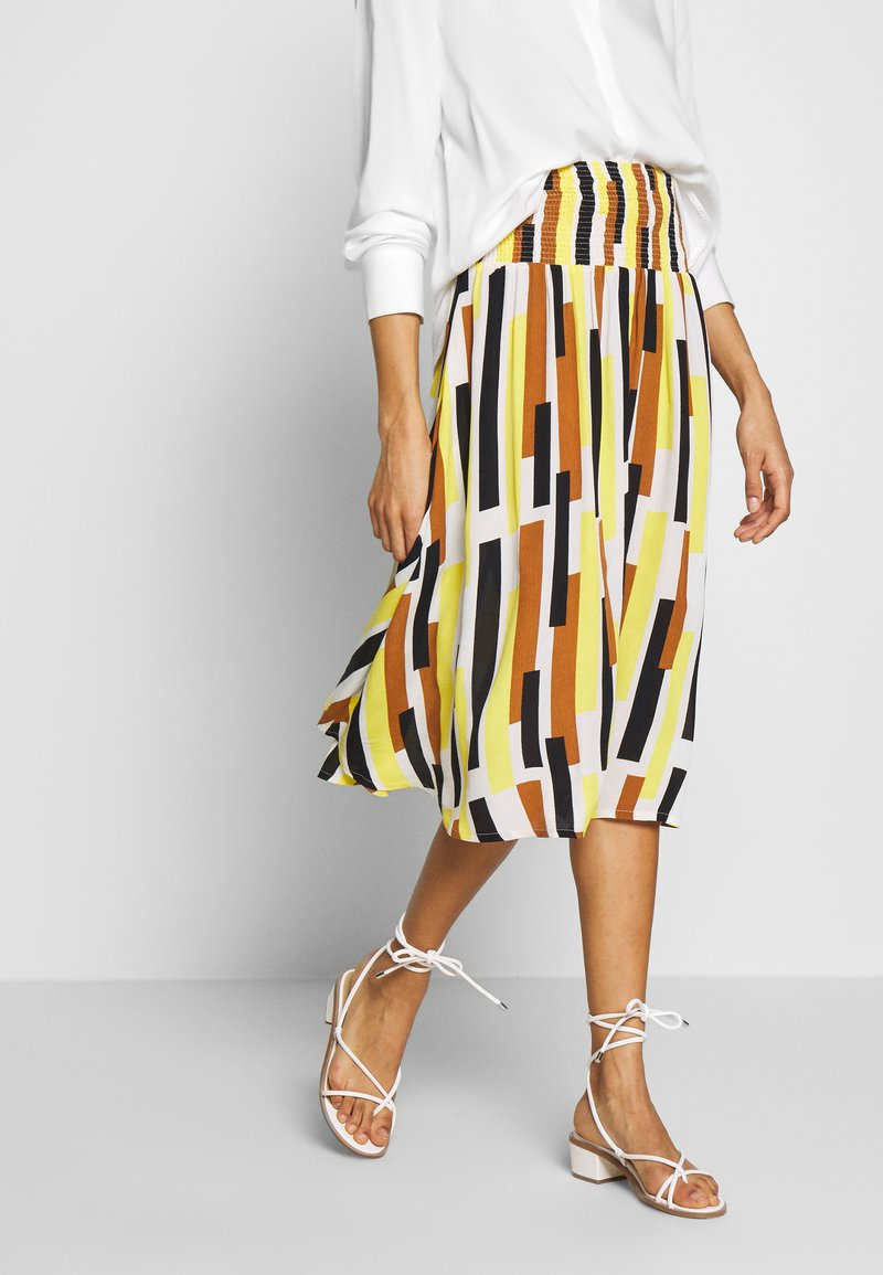 Masai - SONDRA - Áčková sukně - cream gold
