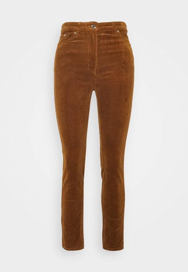 EVE TROUSER - Spodnie materiałowe - dark cognac
