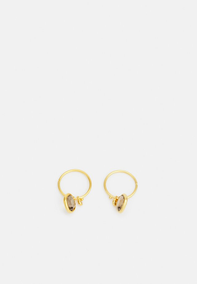 OLIVIA MINI HOOPS - Øreringe - gold-coloured/smokey