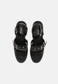 Even&Odd - LEATHER - High heeled sandals - black - 5
