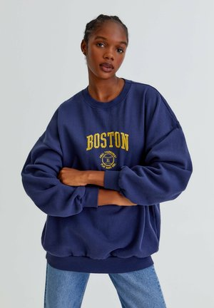 Sweatshirt - mottled dark brown