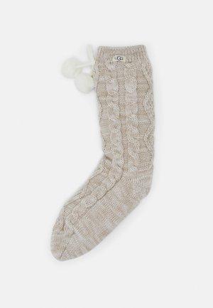 POM POM LINED CREW SOCK - Socks - cream