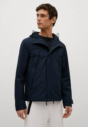 MIT KAPUZE - Outdoor jacket - dunkles marineblau