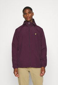 Lyle & Scott - ZIP THROUGH HOODED JACKET - Summer jacket - burgundy - 0