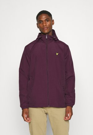 ZIP THROUGH HOODED JACKET - Korte jassen - burgundy