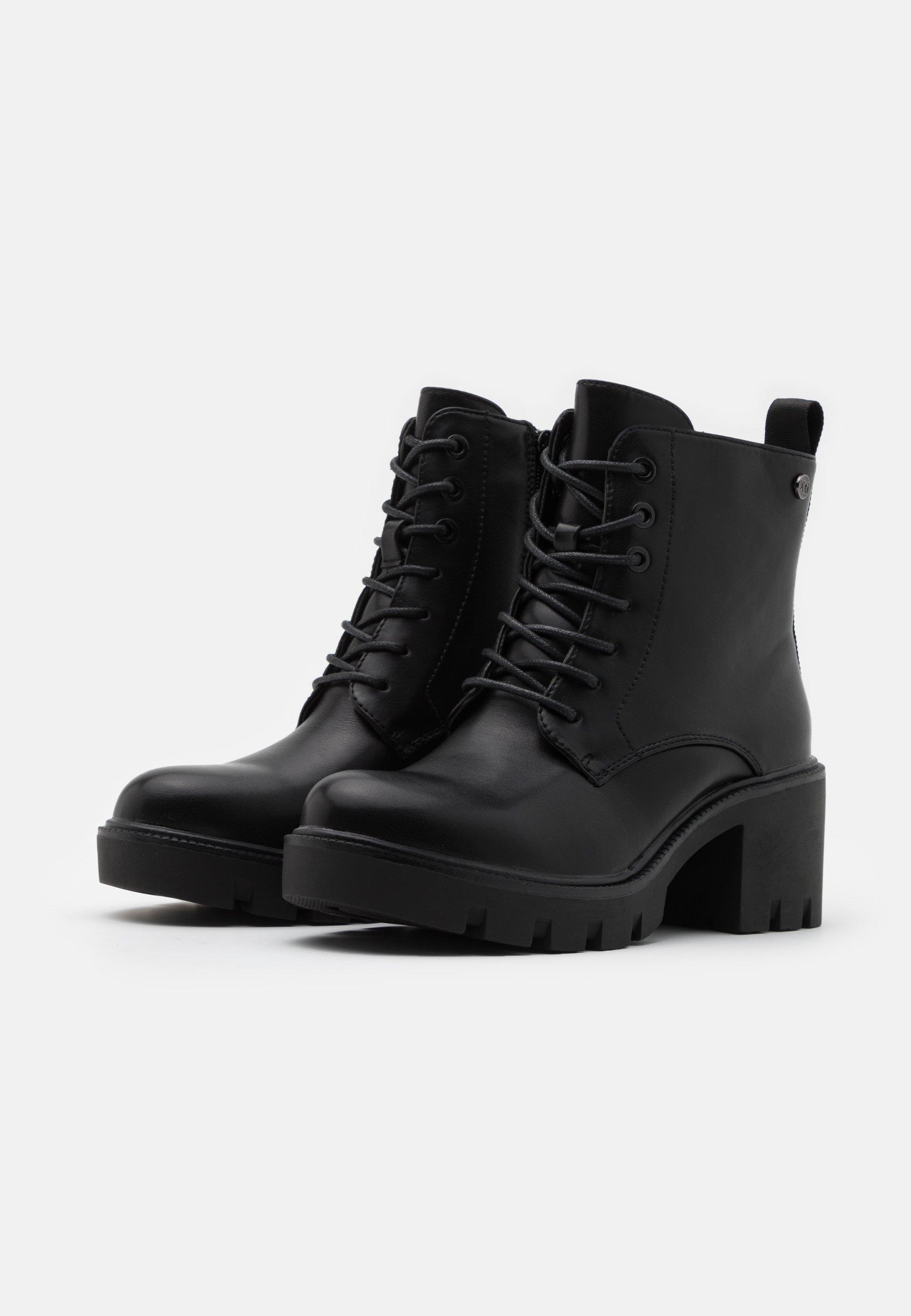 Xti Platåstøvletter - Black/svart