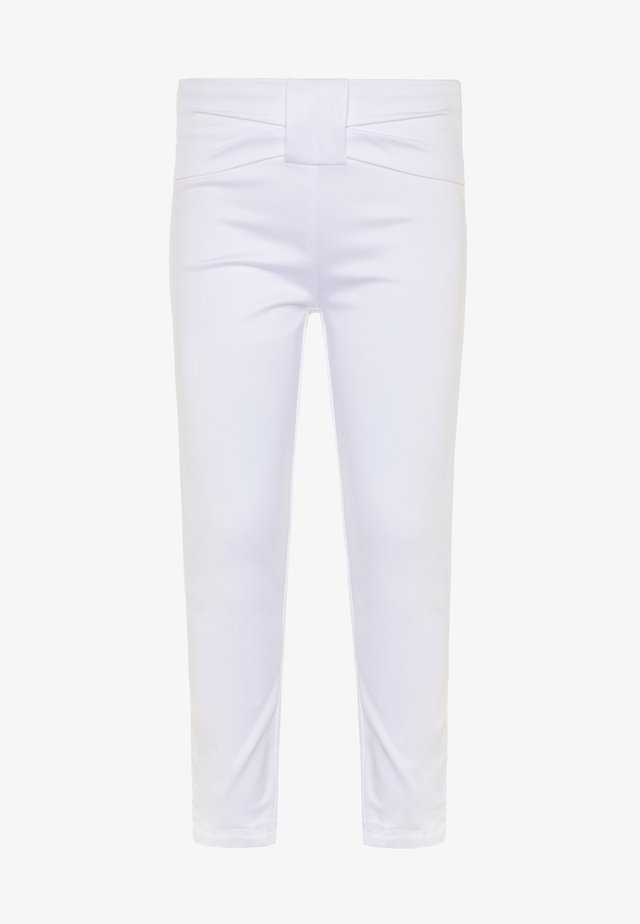 PANTS BOW - Pantalon classique - brilliant white