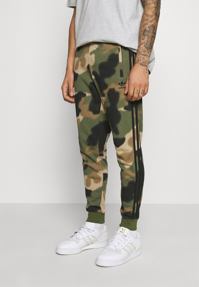 CAMO PANT - Tracksuit bottoms - wilpin/multcolor/black