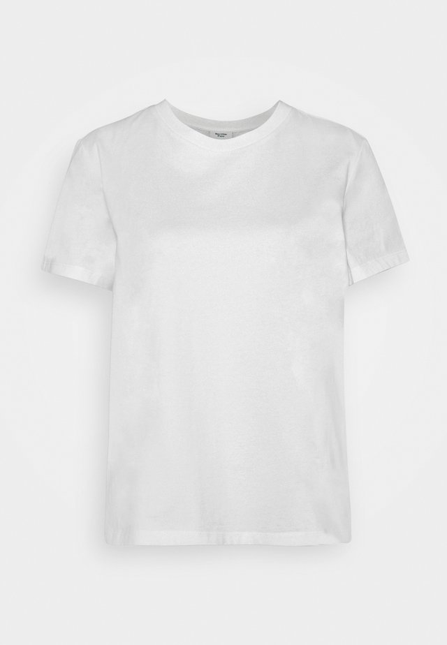 BOXY SHORT SLEEVE CREW - T-shirt basic - white