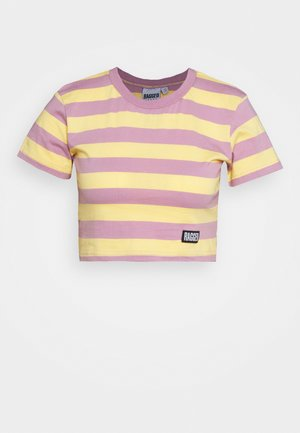 REFRESH TEE - T-shirts med print - yellow/lilac