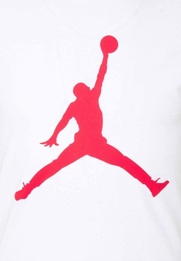 Jordan JUMPMAN CREW - T-shirt z nadrukiem - white/gym red/biały Odzież Męska HYTL