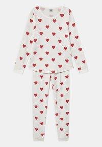 Petit Bateau - HEART - Pyjama set - marshmallow/terkuit - 0