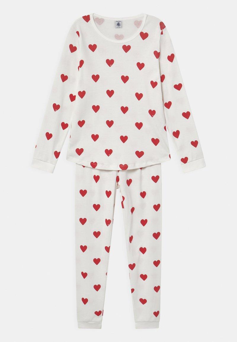 Petit Bateau - HEART - Pyjama set - marshmallow/terkuit