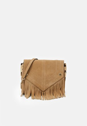 TASSEL STUD XBODY - Across body bag - beige