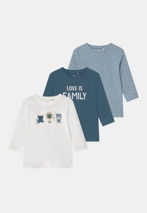 NBMTEMEN 3 PACK - Langærmede T-shirts - dusty blue