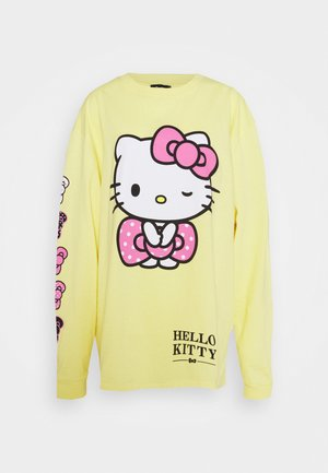SLEEVE PRINT - Camiseta de manga larga - yellow