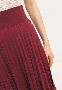 Anna Field - A-line skirt - burgundy - 4