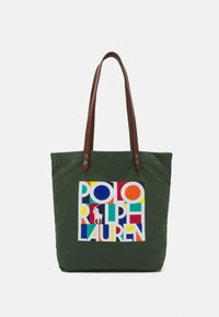 Polo Ralph Lauren - TOTE LARGE - Tote bag - olive - 0